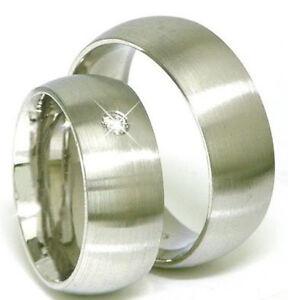 Luxus-Eheringe-Trauringe-585-Gold-14-K-Weissgold-mit-Zirk-Massiv-neu-6-mm-breit