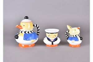 Extremeley-Rare-Shelley-Mabel-Lucie-Attwell-Nursery-Three-Piece-Teaset