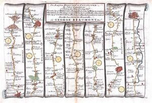 Antique-map-The-Road-from-Hereford-to-Leicester-plate-072