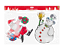 Noel-Noel-Fenetre-Verre-Gel-Autocollants-Decorations-plaque-pochoir-Santa-Design miniature 7