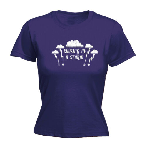 Cooking Up A Storm WOMENS T-SHIRT mothers day cook chef kitchen food funny gift