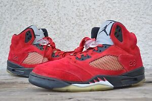 febdb7f1e2e9 2009 Nike Air Jordan Retro 5 V Toro Bravo Fear Red Suede RAGING BULL ...