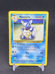 Wartortle 42/102 Pokemon Card Base Set Unlimited Edition 1999 Mint Never played