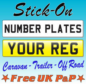 Stick-On-Number-Plate-Self-Adhesive-Rear-Front-Caravan-Trailer-Show-Car-Sticker