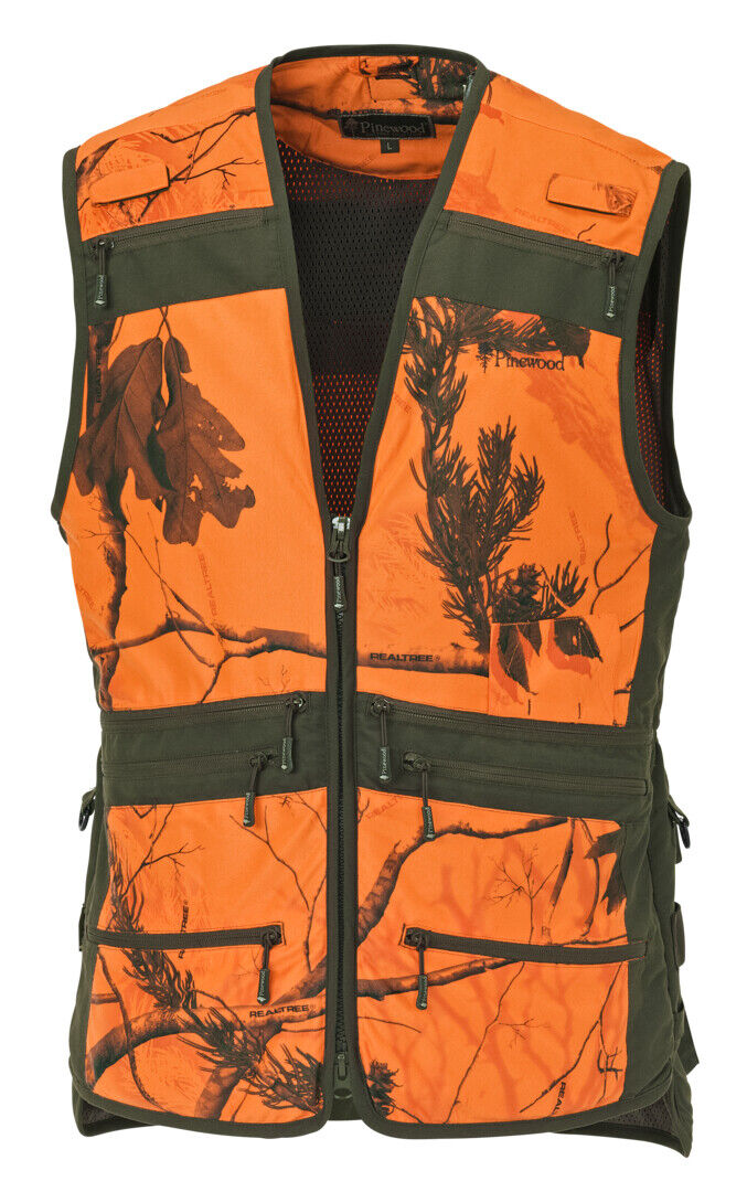 Pinewood men's size XS measured Hunting Vest gilet - RealTree - NEW