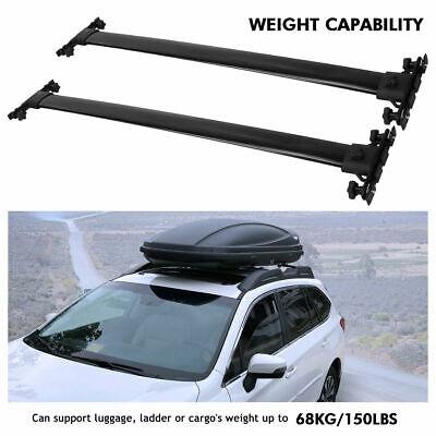 Top Roof Rack Cross Bar Luggage For 2008-2013 Toyota Highlander Black Aluminum