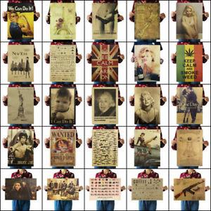 Retro-Kraft-Paper-Poster-Room-Wall-Decor-Living-Room-Bedroom-Nostalgic-Playbill