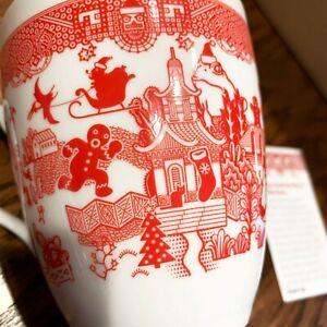 Holiday-Calamityware-12-oz-Coffee-Tea-Mug-Porcelain-Calamity-Ware-Cup-Christmas