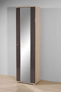 garderobenschrank kleiderschrank flurschrank so226 sonoma eiche grau hochglanz ebay. Black Bedroom Furniture Sets. Home Design Ideas