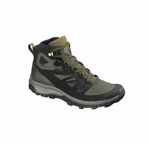 salomon women's outline mid gtx black beluga gold