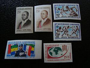 Yt N°159a 159b 161 162 164 165 N Briefmarke Gut Ausgebildete Gabun non Gezahnt a7