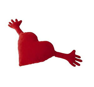 Image Is Loading Ikea Red Heart Hug Pillow Cushion 16 034