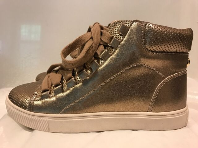 b9f23a0d9f7 Steve Madden Darya High Top Lace Up Sneaker Rose Gold 7 & 7.5 Mismatched  Sizes