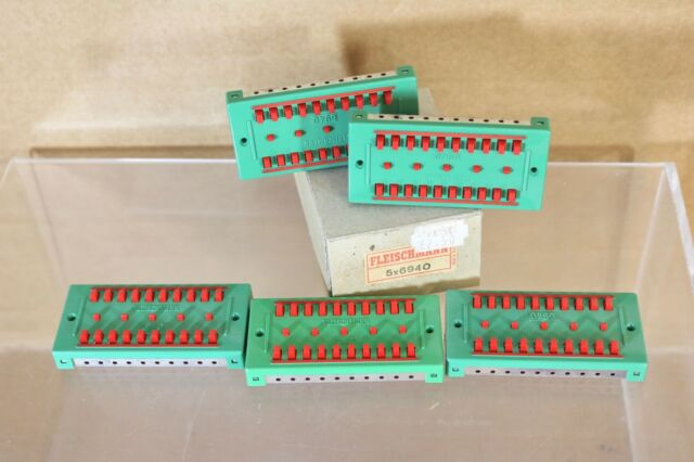 FLEISCHMANN 6940 SET of 5 POWER DISTRIBUTOR BLOCKS for TRACK LAYOUT BOXED nn