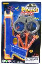 2 SOFT DART PISTOL W KIDS HANDCUFFS toys #424 guns target soft darts toy pistols