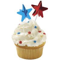 3d Star Red & Blue Fun Pix 12 Ct From Wilton 9208 -
