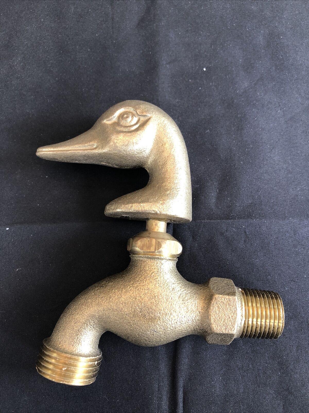 Brass Duck Head Mallard Head Water Garden Outdoor Faucet Hose Spigot
