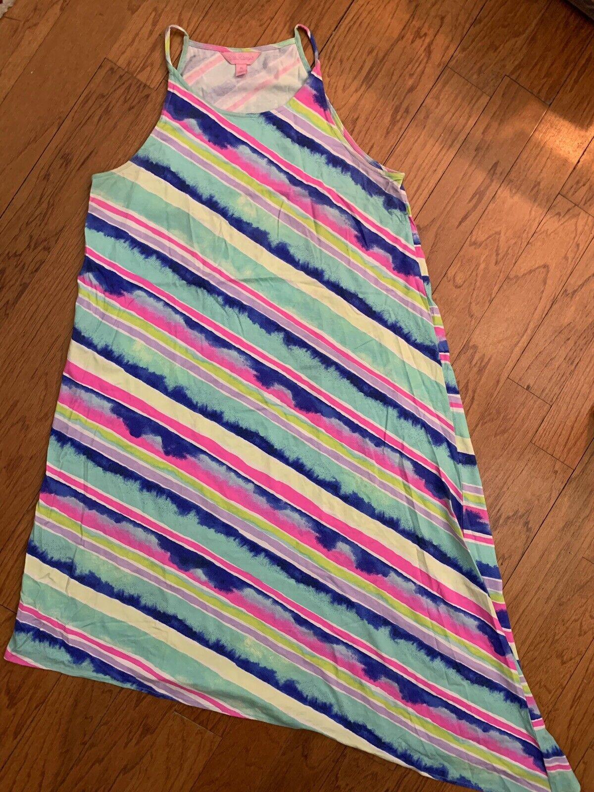 Lilly Pulitzer Magnolia Midi Dress In Multi Ceviche Stripe Diagonal Size XS