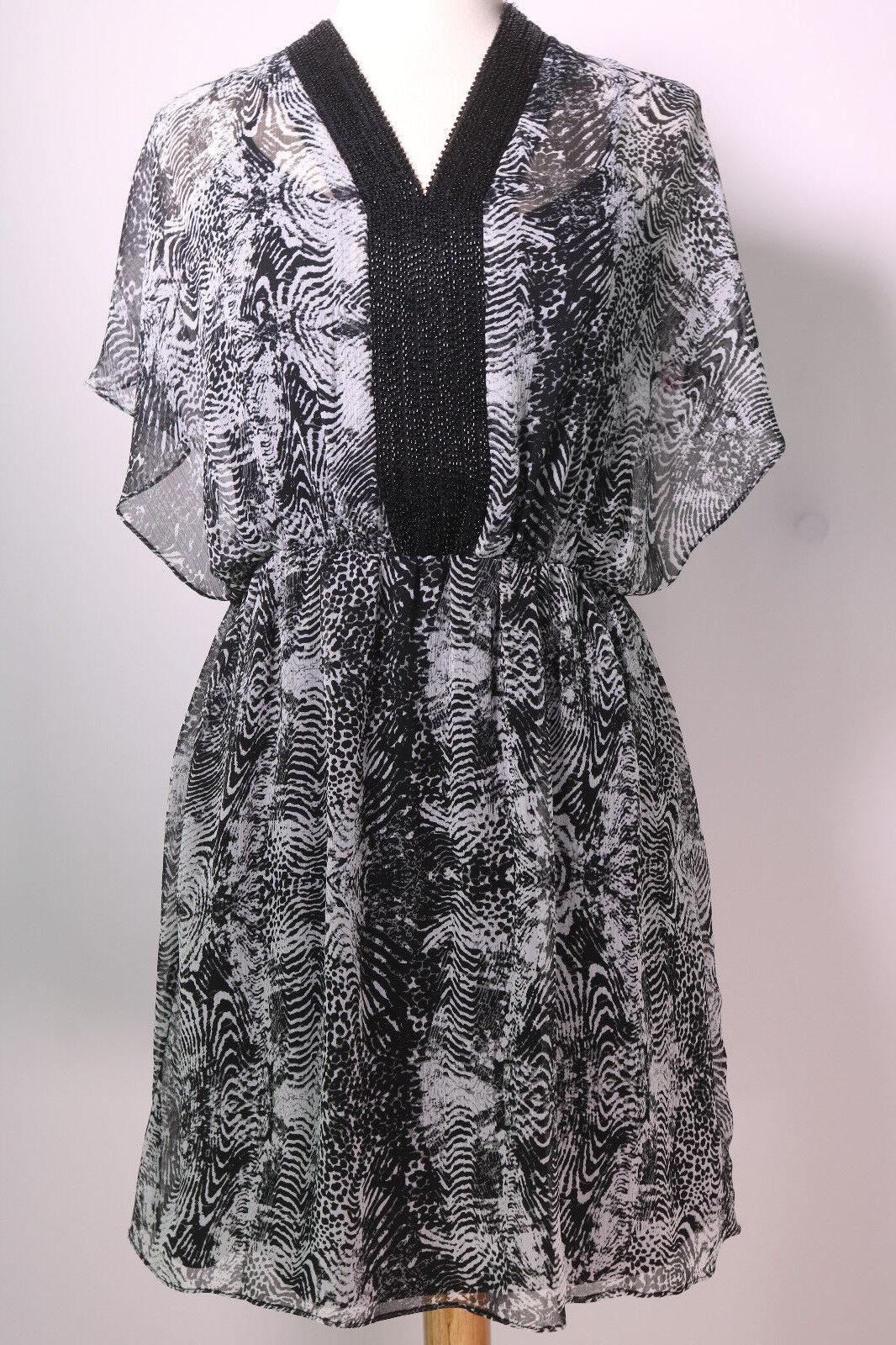 Belle Badgley Mischka Geo Short Sleeve Shirt Dress Size 6 New  159