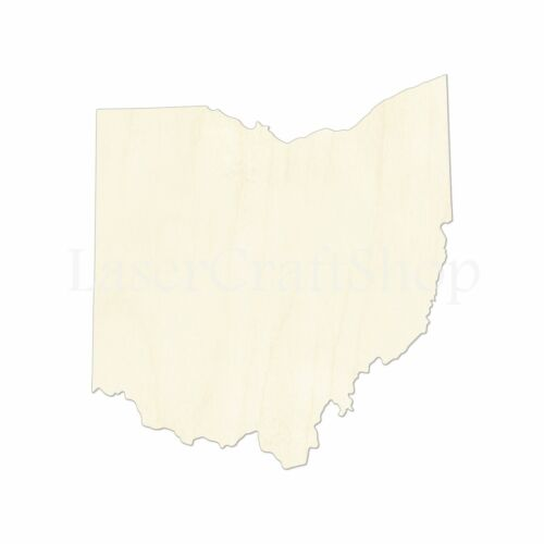 Wooden Cutout Shape Ohio Tags Ornaments Laser Cut #1794 OH State Silhouette