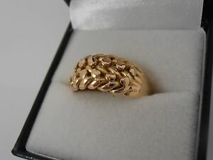 ANTIQUE-18CT-YELLOW-GOLD-KEEPER-RING-CHESTER-1900