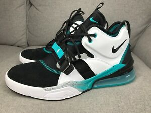 9e987821d552c New Nike Air Force 270 AH6772-008 Black White Wolf Grey Blue Emerald ...