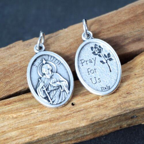 St Jude Medals Saint Catholic Medals bulk lot 5 pcs Patron Saint charm Italy