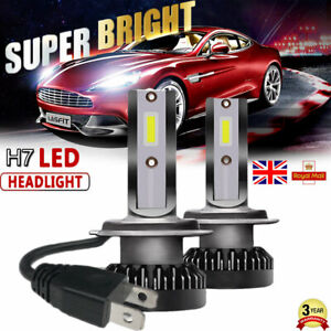 Mini-Size-H7-Led-Headlight-110W-Bulbs-6000K-WHITE-Single-Beam-Lamps-Replace-HID