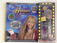 Hannah Montana My Secret Superstar Style Spiral Bound Disney Craft Book New