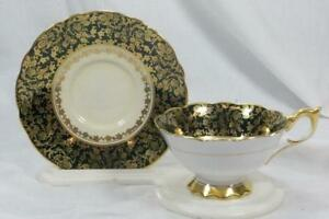 Royal-Stafford-Golden-Scroll-Tea-Cup-And-Saucer-Set