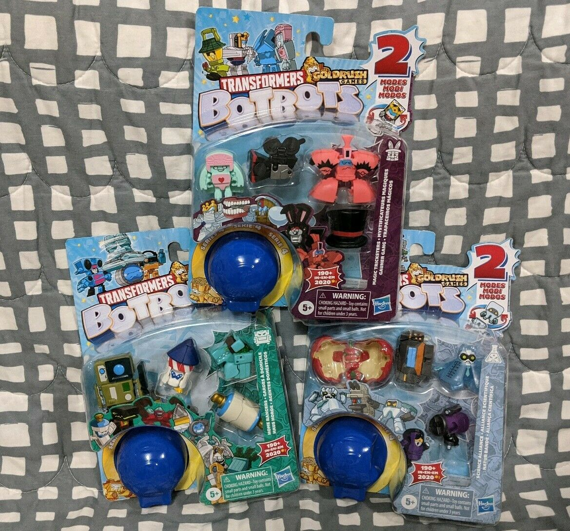 Transformers BOTBOTS serie 4 Science Alliance Home Rangers Magic Tricksters Masse