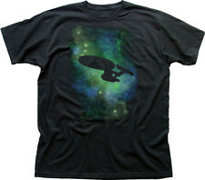STAR trek Starfleet USS Enterprise Nero T-shirt di Cotone 9887