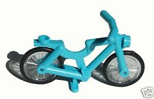 Lego Minifig Accessory Bicycle Complete Assembly Medium Azure
