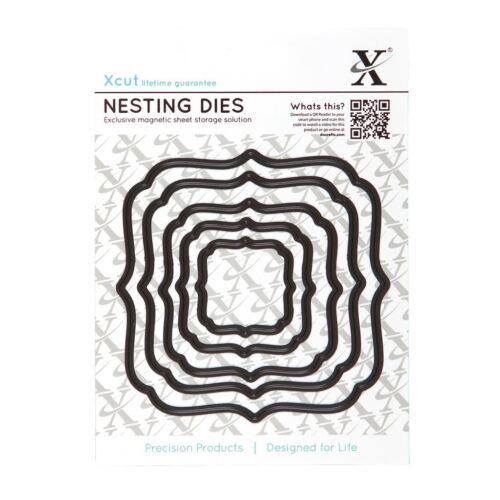 5pcs Square Parenthèses Xcut gaufrer Shim Coupe Détail Stencil Nesting Dies