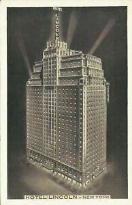 Hotel-Lincoln-44th-Street-1930s-Lumitone-New-York-City-Postcard