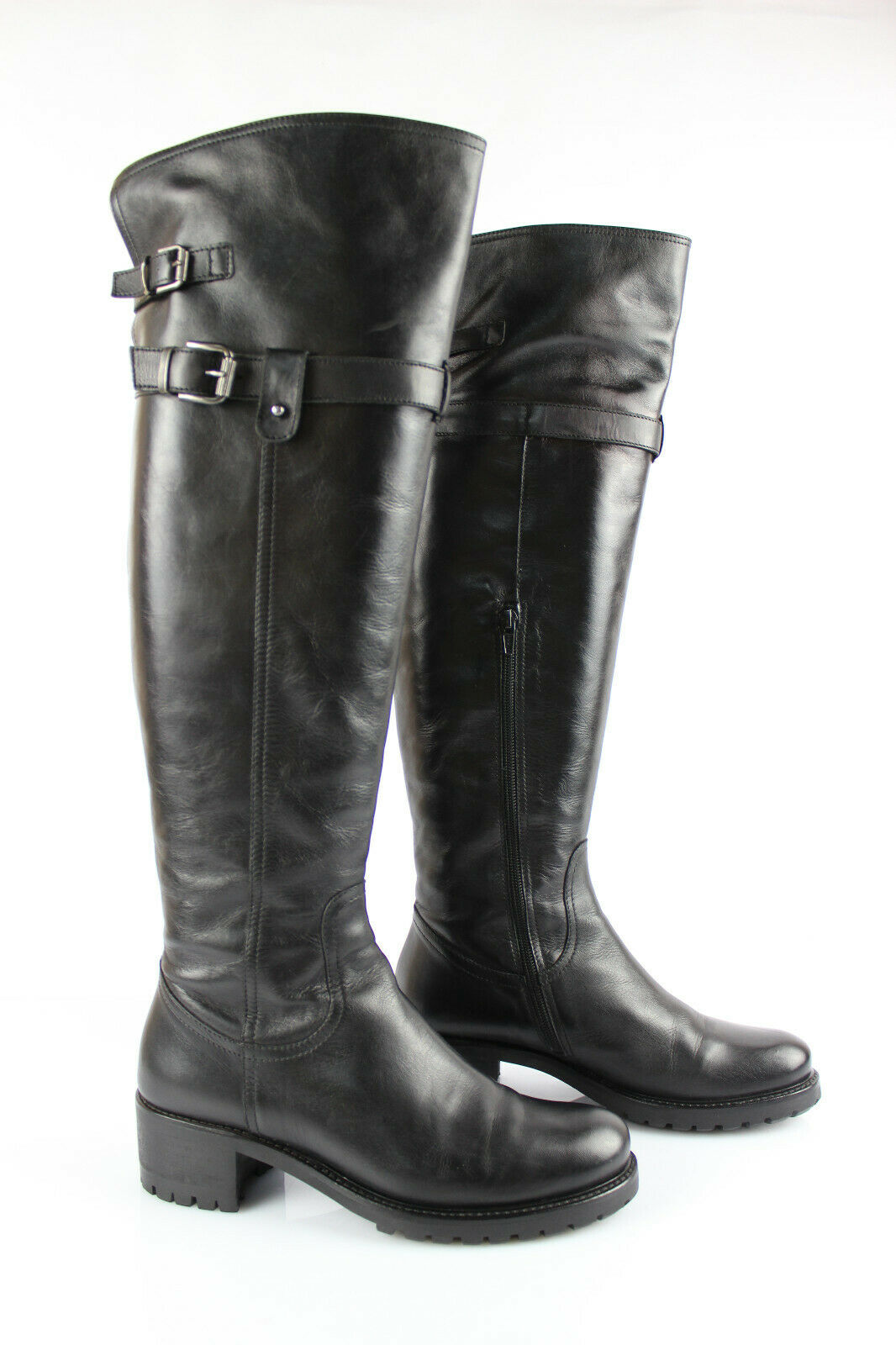 Minelli Hohe Stiefel Schwarzes Leder UK 5   De 38