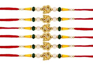 Religion & Spirituality Fashion Jewelry Fast Deliver 6 X Rakhi Thread Bracelet Multicolour Bead Raksha Bandhan Rakhi Wrist Band Dora