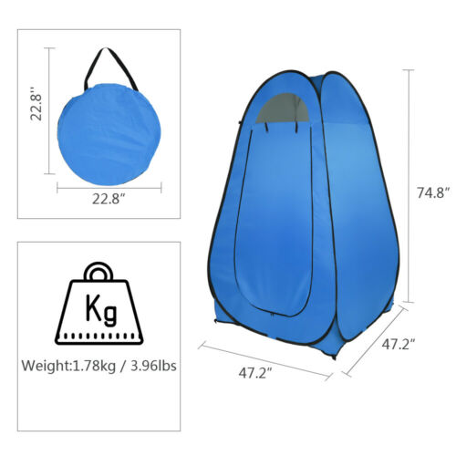 Details about  /Portable Outdoor Pop-up Toilet Shower Tent Privacy Dressing Changing Room Tent