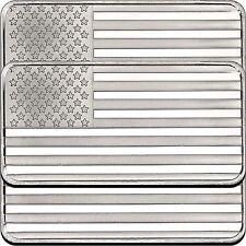 American Flag 10oz .999 Silver Bar (3pc)