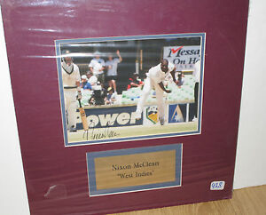 Nixon-McLean-West-Indies-Superstar-Signed-Test-Photo-8x10-matted-plaque-COA