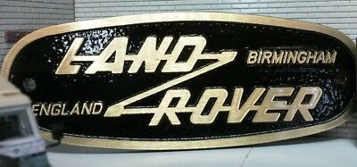Land Rover Defender Green Brass  Grill Tub Heritage Front Panel Badge Solihull
