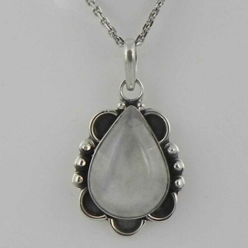 Details about  /Solid 925 Sterling Silver Rainbow Moonstone Pendant Necklace Women PSV-2133