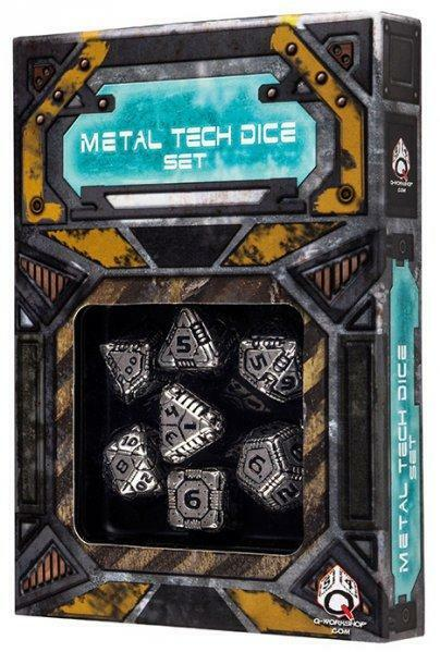 Exotic Dice Sets  Metal Tech Dice Set (7) QWSSMTE35