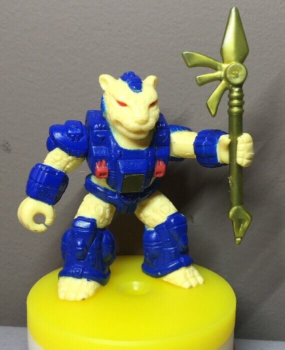 Battle Beasts - bluee Armor Jaded Jaguar - Hyper Rare Vintage Figure Complete