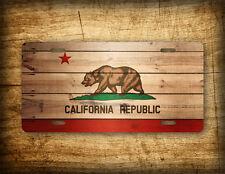 Americana California State Flag License Plate Vintage Antique Auto Tag CA METAL