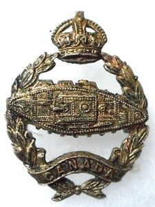 CANADA-SILVER-PLATED-ARMOURED-FIGHTING-VEHICLES-OFFICER-039-S-CAP-BADGE