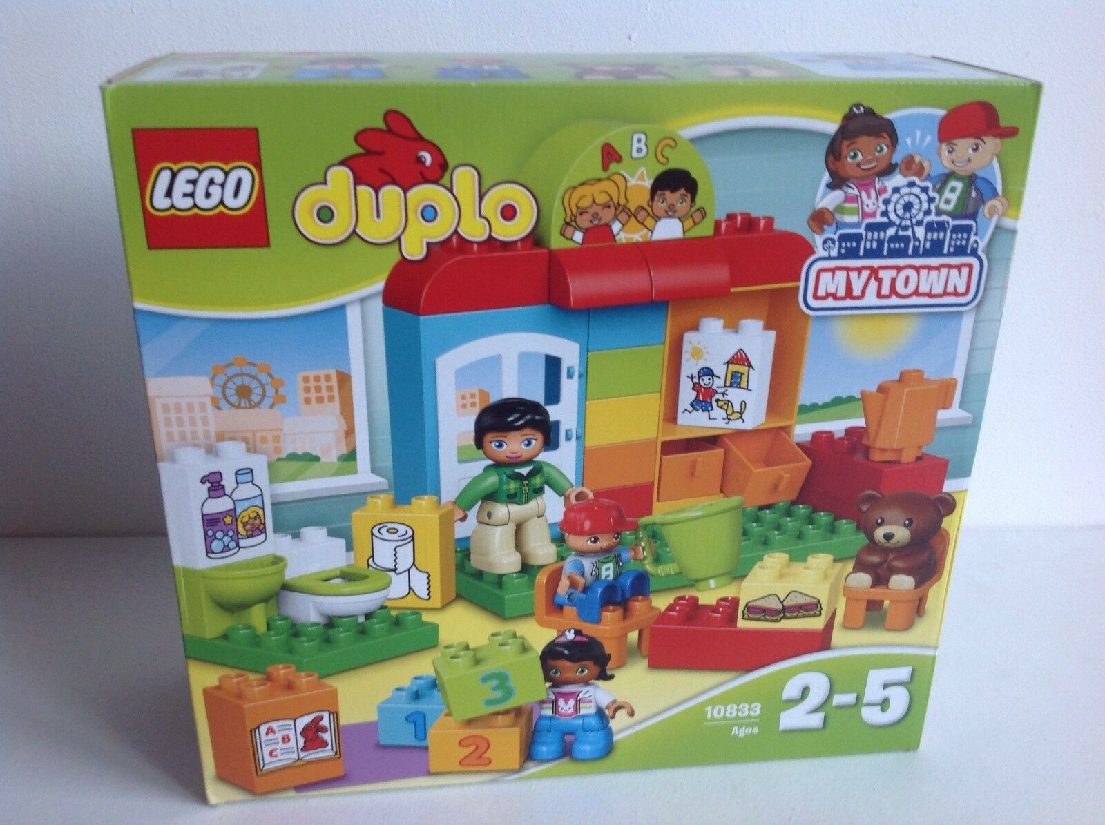 NEW LEGO DUPLO Nursery School Set 10833 My Town with 3 Duplo Figures New Boxed