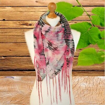 BNWT ladies trendy tie dye square scarf tie dye head wrap HIPPY festival scarf