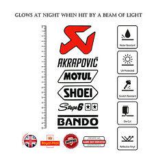 6pcs MOTUL SHOEI BANDO Stage 6 Moto GP Decal Sticker Set Reflective Vinyl F322