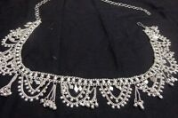 ethnic women silver coin Hip Belt Belly Dancing metal waist club India scarf